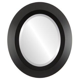 Ebern Designs Royalton Framed Oval Accent Mirror
