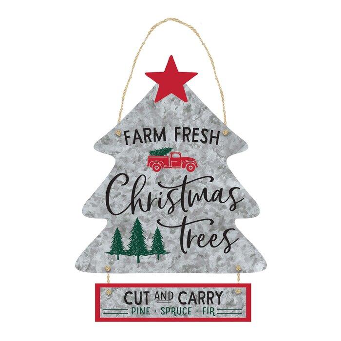 Fresh Cut Christmas Trees Sign.Christmas Fresh Farm Tree Sign