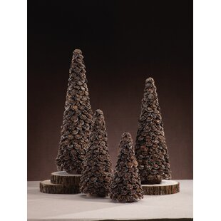 Flower Cut 1 Brown Pine Trees Artificial Christmas Tree