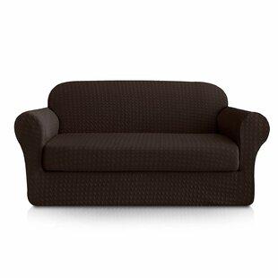 Jacquard Box Cushion Sofa Slipcover By Winston Porter