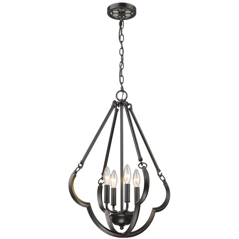 Gracie Oaks Casselman 4 Light Candle Style Geometric Chandelier Reviews Wayfair