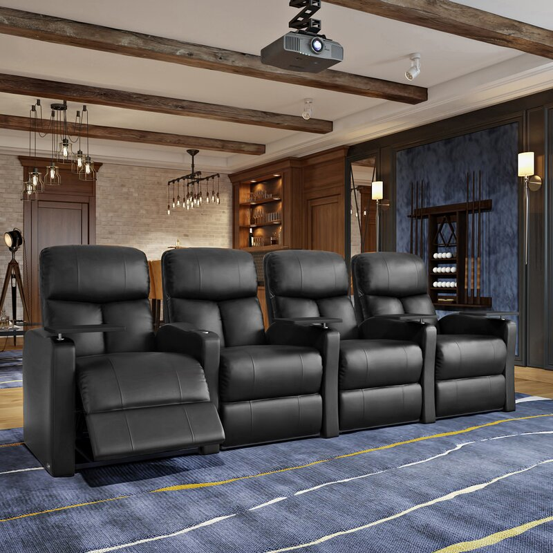 Home Theater Recliner (Row of 4) & Theater Seating Youu0027ll Love | Wayfair islam-shia.org