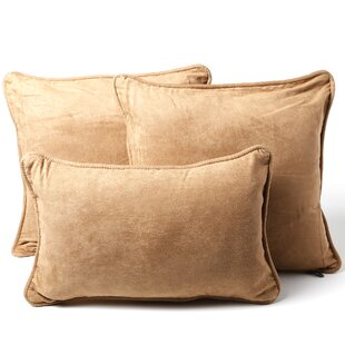 Galbraith 3 Piece Microsuede Throw Pillow Set