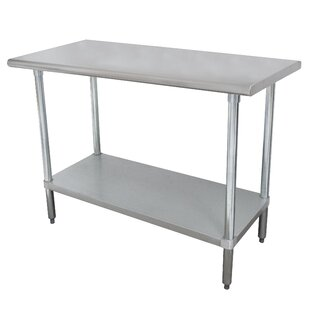 Wide Space-Saver Prep Table Advance Tabco
