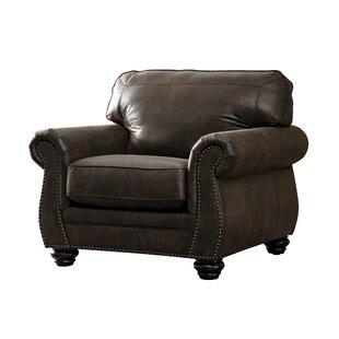 Acanva Contemporary Leathaire Standard Armchair