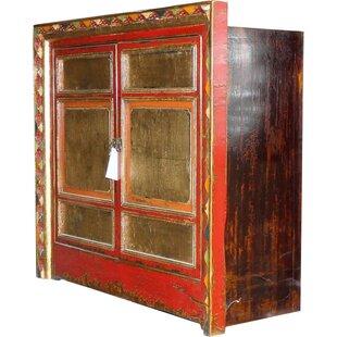 Abramowitz Tibetan 2 Door Cabinet by Bloomsbury Market