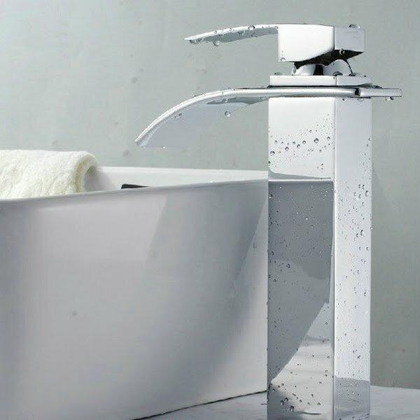 Single Hole Waterfall Vessel Sink Faucet
