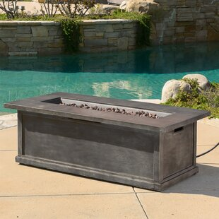 Stacy Wood Propane Fire Pit Table By Loon Peak