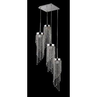 Claud 4-Light Crystal Pendant by Orren Ellis