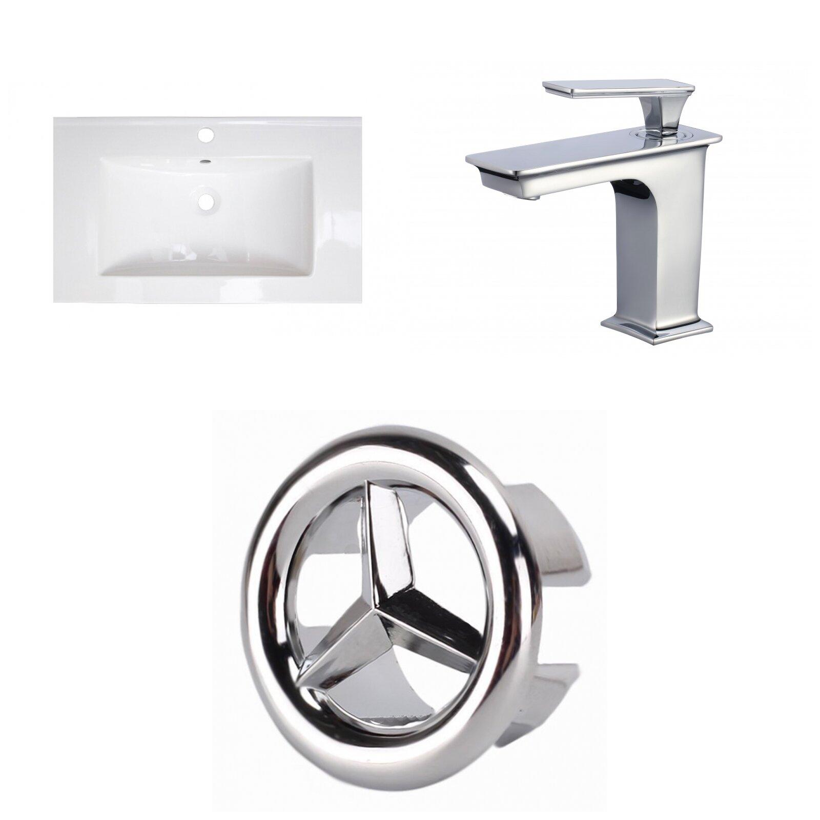 Wrought Studio Kemmel Ceramic 32 Single Bathroom Vanity Top Wayfair