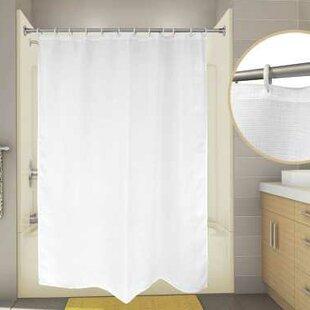 Inexpensive Cotton Premier Waffle Shower Curtain ByPremier Faucet