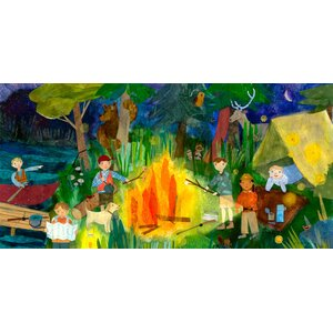 Campfire Kids Canvas Art