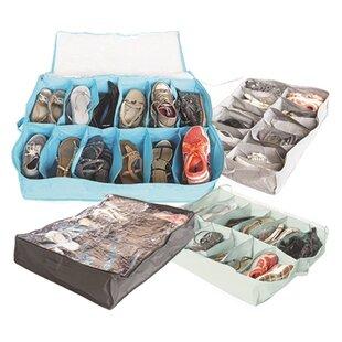 Rebrilliant College Shoe Holder Fabric Underbed Storage