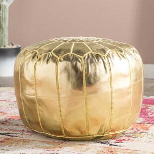 Clarkdale Leather Pouf