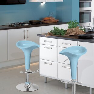 Adjustable Height Swivel Bar Stool (Set of 2) Adeco Trading