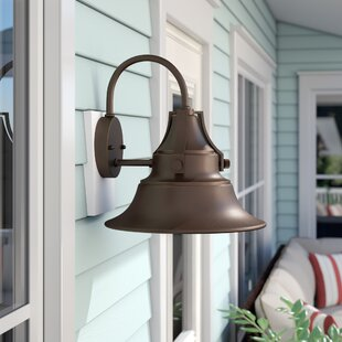 Dowling 1-Light Outdoor Barn Light by Beachcrest Home