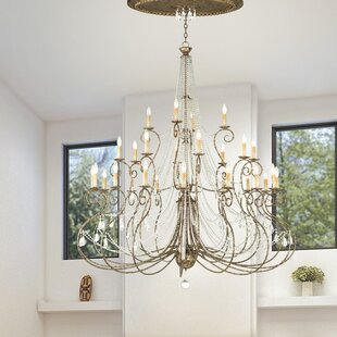 Astoria Grand Charley 28-Light Candle Style Chandelier