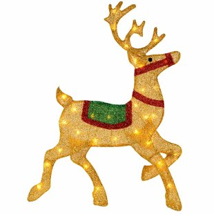 Pre-Lit Reindeer Silhouette Figurine By The Seasonal Aisle