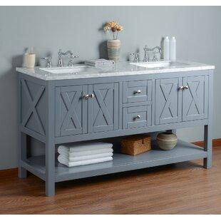 Timbrell 60 Double Bathroom Vanity Set by Lark Manor