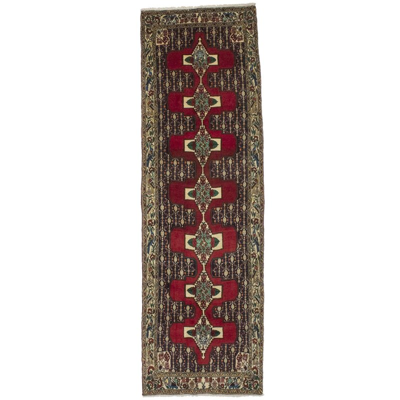 Bloomsbury Market Gwladus Oriental Hand Knotted Wool Red Yellow Area Rug Wayfair