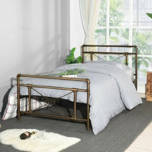 Eleanora Traditional Antique Pipe Shaped Bronze Platform Bed