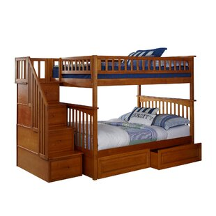 Abel Staircase Full Over Full Standard Bed with Drawers by Harriet Bee