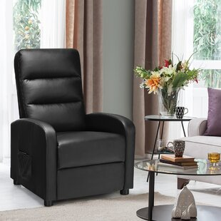 Electric Modern Leather Reclining Massage Chair by Latitude Run
