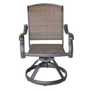 Harland Swivel Patio Dining Chair with Cushion by Sol 72 Outdoor