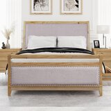 Kanauga Queen Solid Wood and Upholstered Low Profile Storage Platform Bed by Winston Porter