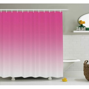 Inspired Digital Hot Pink Design Print Single Shower Curtain