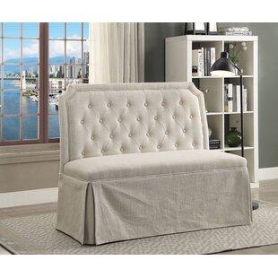 Ophelia & Co. Crofton Wood & Upholstered Bench