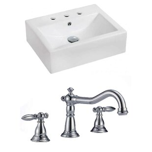 Shopping for Ceramic 20 Wall-Mount Bathroom Sink with Faucet and Overflow By Royal Purple Bath Kitchen