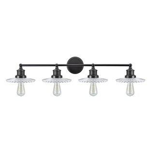 Gracie Oaks Lederer Transitional Metal 4-Light Vanity Light