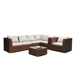 Clemons 5 Piece Sectional Seating Group with Cushions
