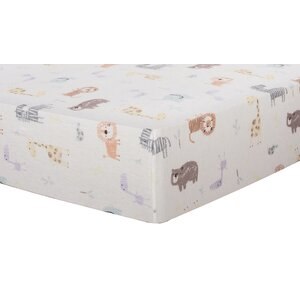 Crayon Jungle Deluxe Flannel Fitted Crib Sheet