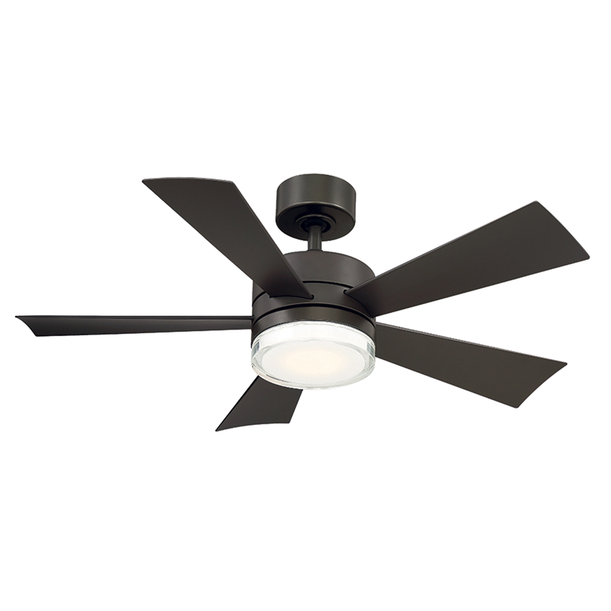 Modern Forms Wynd 5 Blade Outdoor Led Smart Standard Ceiling Fan With Remote Control And Light Kit Included Reviews Wayfair