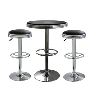 Kishore 3 Piece Adjustable Pub Table Set by Ebern Designs
