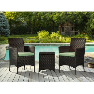 Lynette Outdoor 3 Piece Rattan with Cushions