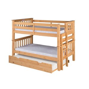 Santa Fe Mission Twin Bunk Bed with Trundle by Camaflexi