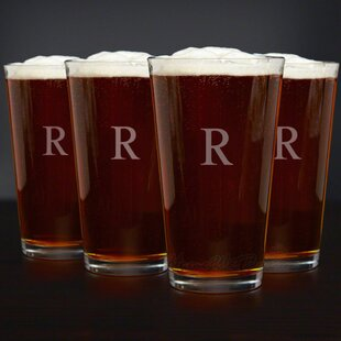 Personalized American 16 oz. Beer Glass (Set of 4)
