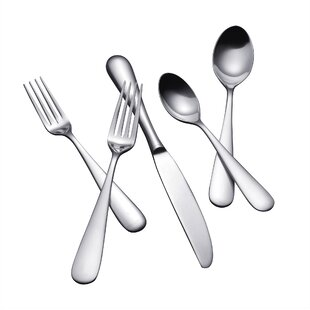 Median 45 Piece 18/10 Stainless Steel Flatware Set, Service for 8