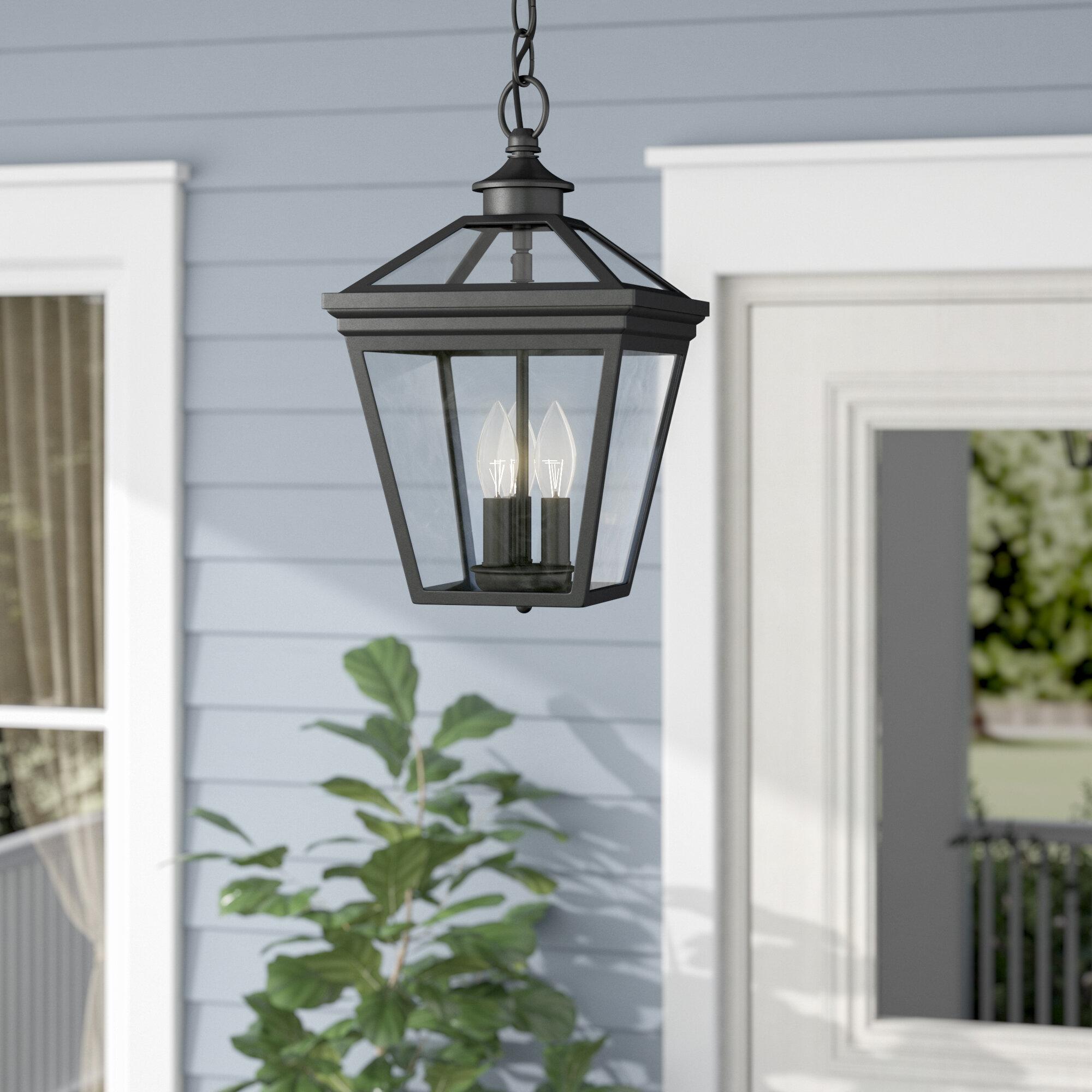 Darby Home Co Coleg 3-Light Outdoor Hanging Lantern & Reviews   Wayfair