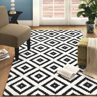 Compare & Buy Thym Black/White Abstract Diamond Area Rug ByMack & Milo