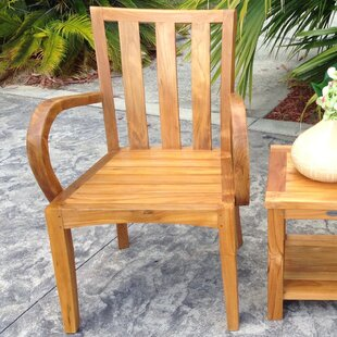 Ares Teak Patio Dining Arm Chair