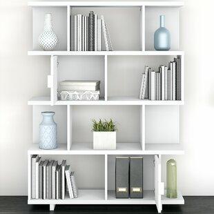 Madison Avenue Large Geometric Bookcase By Kathy Ireland Home By Bush Furniture