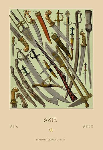Buyenlarge Asian Knives By Auguste Racinet Vintage Advertisement Wayfair