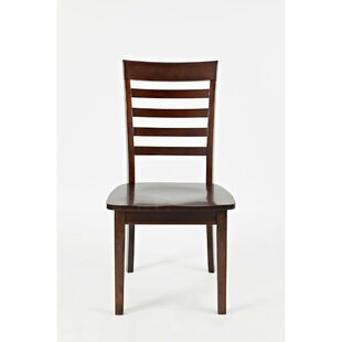 Alfred Ladder Back Solid Wood Dining Chair (Set of 2) by Longshore Tides