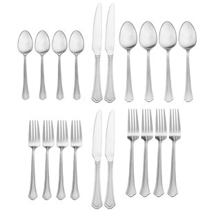 Capri Frost 20 Piece Flatware Set, Service for 4