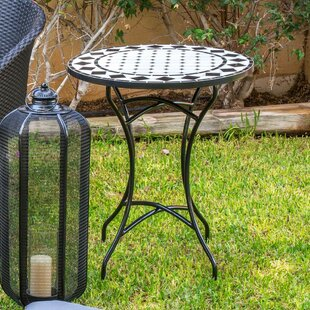 Serina Vitrified Ceramic And Metal Bistro Table By Sol 72 Outdoor