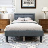 Amrinder Upholstered Low Profile Platform Bed by Latitude Run®